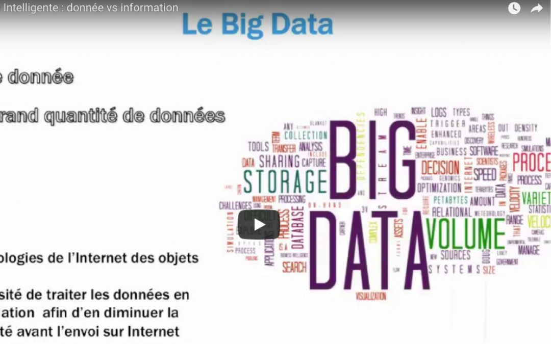 Usine intelligente :  Big Data, donnée vs information